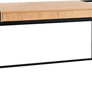 Pracovní stůl s černou konstrukcí Custom Form