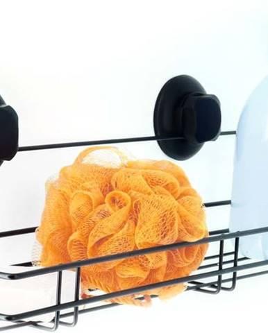Černá samodržící nástěnná kuchyňská polička Compactor Bestlock Black Kitchen Shelf, 45,5 x 12 cm
