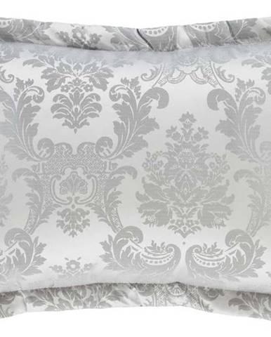Sada 2 šedých povlaků na polštář Catherine Lansfield Jacquard, 50x75cm