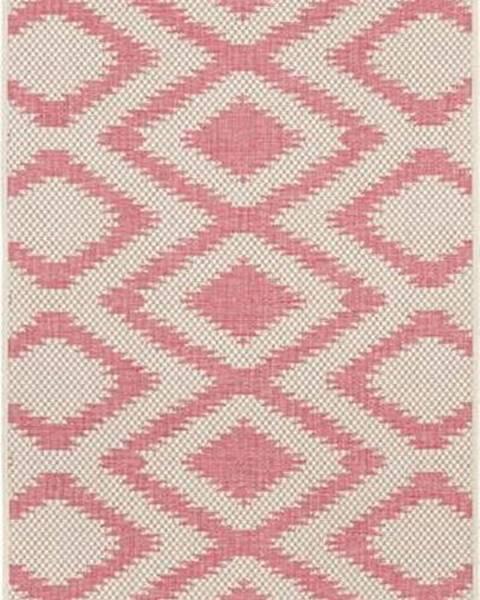 Bougari Červeno-krémový venkovní koberec Bougari Isle, 70x200 cm