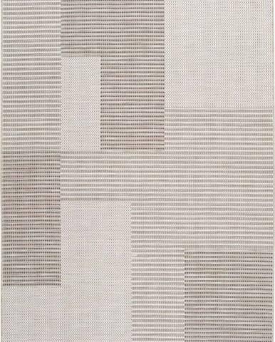 Béžový venkovní koberec Universal Cork Squares, 130 x 190 cm