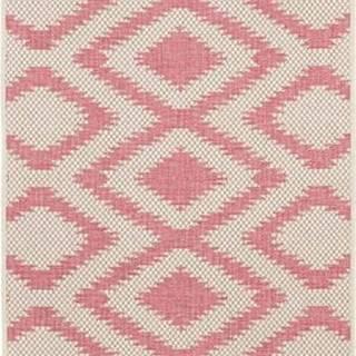 Červeno-krémový venkovní koberec Bougari Isle, 70x200 cm