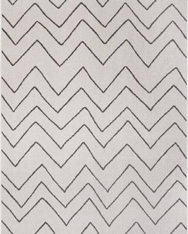 Černo-šedý venkovní koberec Ragami Lisbon, 80 x 150 cm