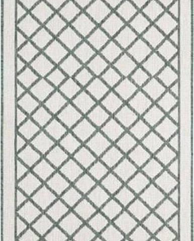 Zeleno-krémový venkovní koberec Bougari Sydney, 80 x 350 cm