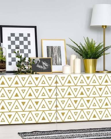 Bílo-žlutá dekorativní tapeta na nábytek Ambiance Marink