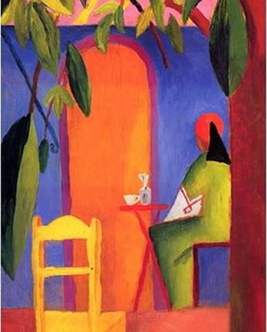 Reprodukce obrazu August Macke - Turkish Cafe II,50x30cm