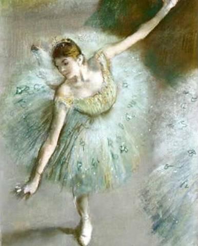 Reprodukce obrazu Edgar Degas - Dancer in Green,55 x30cm