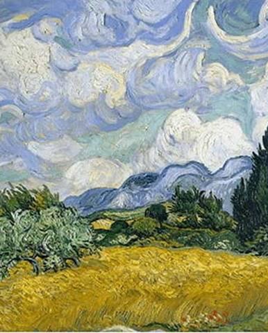 Reprodukce obrazu Vincent van Gogh - Wheat Field with Cypresses,60x45cm
