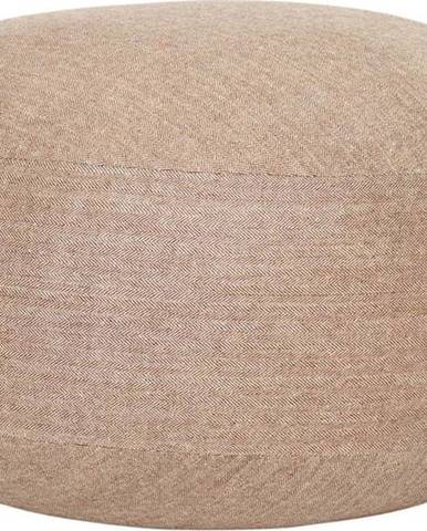 Světle hnědý puf Hübsch Turenio, ø 70 cm