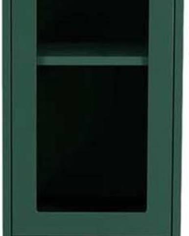 Tmavě zelená vitrína Tenzo Uno, šířka 40cm