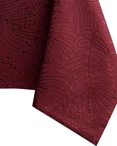 Tmavě červený ubrus AmeliaHome Gaia Claret, 140 x 180 cm