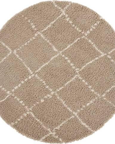 Hnědý koberec Mint Rugs Hash, ⌀ 160 cm