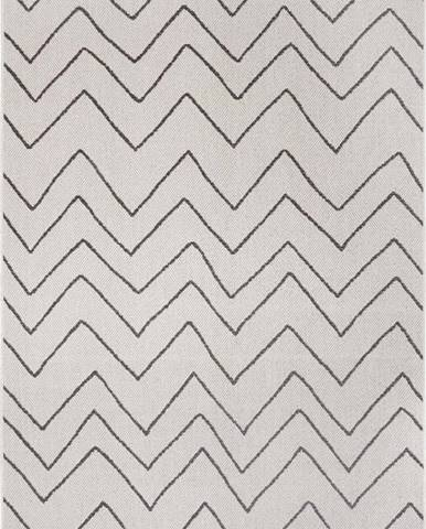Černo-šedý venkovní koberec Ragami Lisbon, 120 x 170 cm