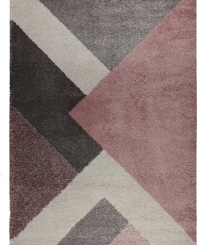 Růžovo-šedý koberec Flair Rugs Zula, 120 x 170 cm