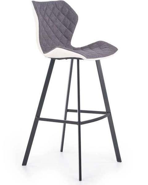 Halmar Halmar Barová židle H-83, bílá/šedá/černá