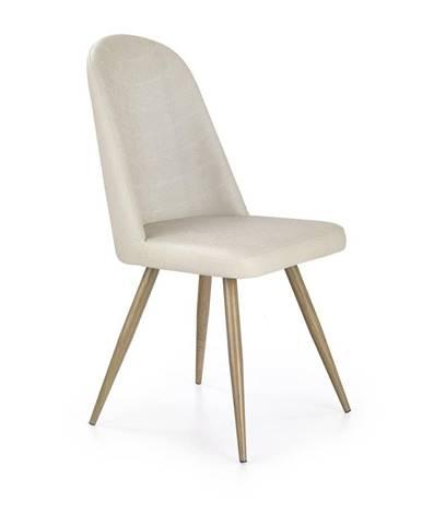 Halmar Jídelní židle K214, krémová/medový dub