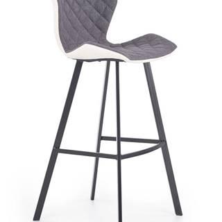 Halmar Barová židle H-83, bílá/šedá/černá