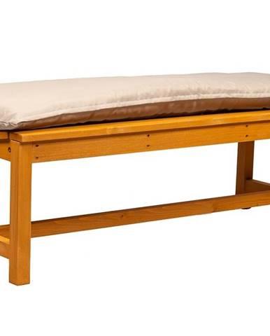 Dřevěná zahradní lavice, přírodní/béžová, 120 cm, VEATA