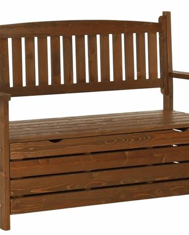 Zahradní lavička, hnědá, 124cm, DILKA