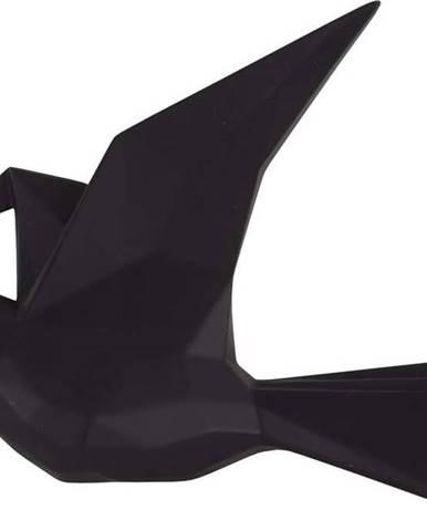 Černý nástěnný věšák ve tvaru ptáčka PT LIVING, šířka 25 cm