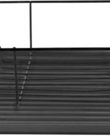 Černý odkapávač na nádobí PT LIVING Linea