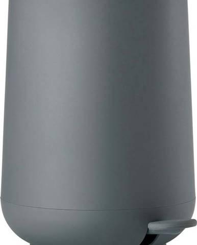 Tmavě šedý koupelnový pedálový koš Zone Nova,3l