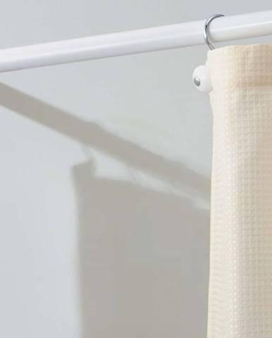 Bílá tyč na sprchový závěs s nastavitelnou délkou iDesign Cameo, délka66 - 107cm