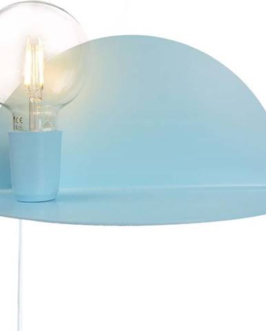 Modré nástěnné svítidlo s poličkou Homemania Decor Shelfie