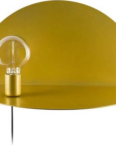 Nástěnné svítidlo s poličkou ve zlaté barvě Homemania Decor Shelfie