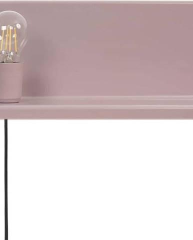 Růžové nástěnné svítidlo s poličkou Homemania Decor Shelfie2