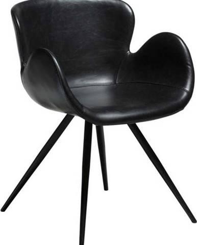 Černá koženková židle DAN-FORM Denmark Gaia