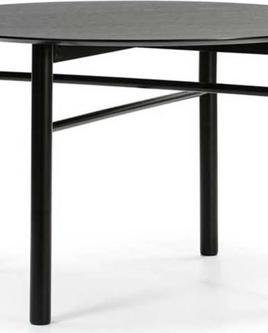 Černý kulatý jídelní stůl Teulat Junco, ø 120 cm