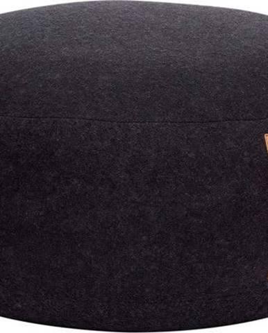Černý puf Hübsch Gudmund, ø75cm