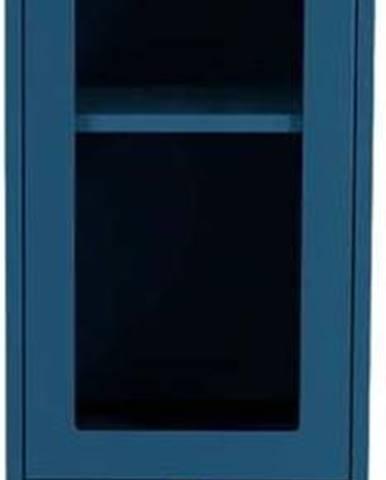 Petrolejově modrá vitrína Tenzo Uno, šířka 40cm