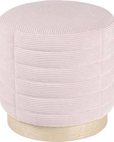 Světle růžový manšestrový puf sømcasa Saul