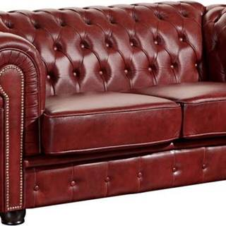 Červená kožená pohovka Max Winzer Norwin, 174 cm
