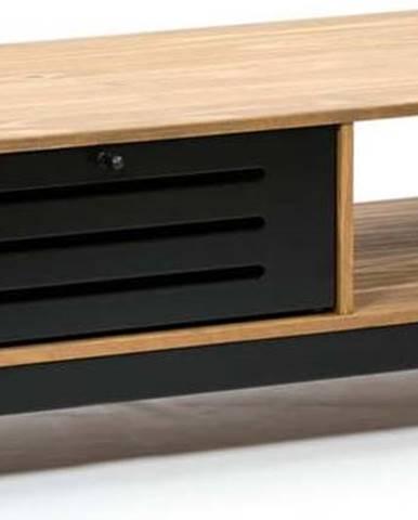 Dřevěný konferenční stolek s černými detaily Marckeric Alessia