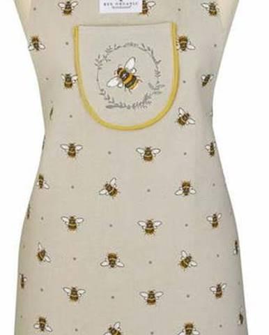 Béžovo-žlutá bavlněná zástěra Cooksmart ® Bumble Bees