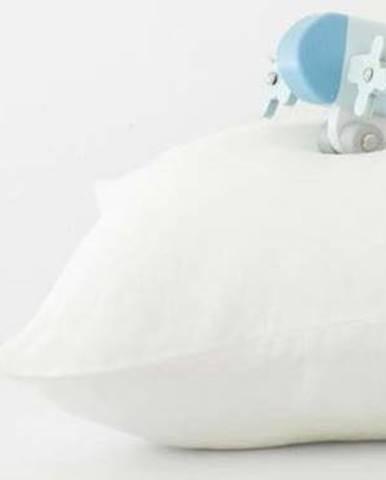 Dětský bílý lněný povlak na polštář Linen Tales Nature,40x60cm