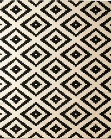 Černý koberec Hanse Home Hamla Diamond, 80x200cm