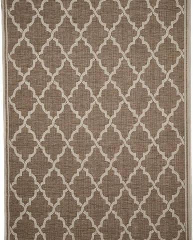 Hnědý venkovní koberec Floorita Intreccio, 160 x 230 cm