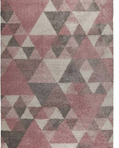 Růžovo-šedý koberec Flair Rugs Nuru, 120 x 170 cm