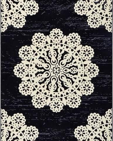 Černý koberec Hanse Home Gloria Lace, 120x170cm