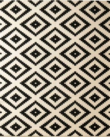 Černý koberec Hanse Home Hamla Diamond Black, 200x290cm