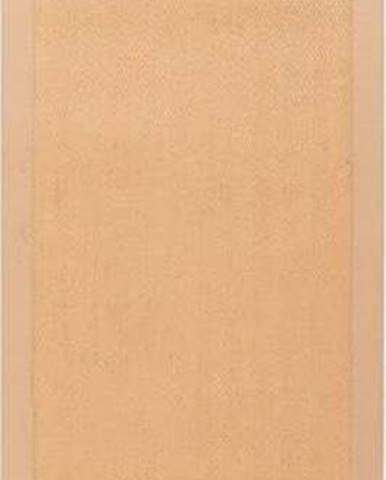 Hnědý jutový běhoun Flair Rugs Herringbone, 60 x 230 cm