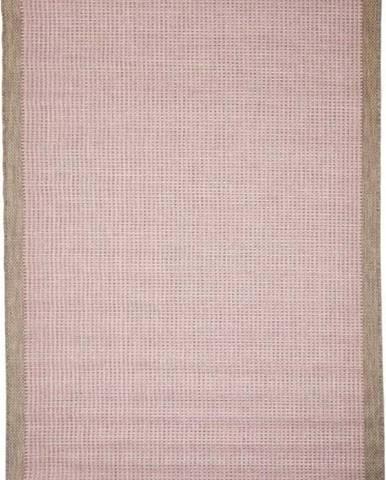 Růžový venkovní koberec Floorita Chrome, 160 x 230 cm
