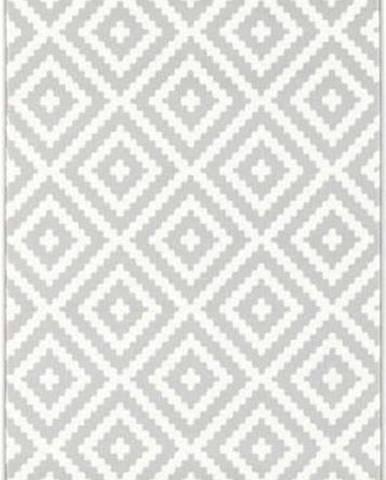 Šedo-krémový běhoun Hanse Home Celebration Mazzo, 80 x 250 cm