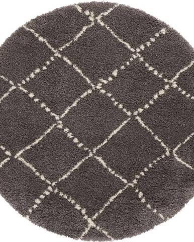 Šedý koberec Mint Rugs Hash, ⌀ 160 cm