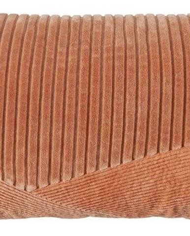 Růžový bavlněný polštář BePureHome, 30 x 50 cm