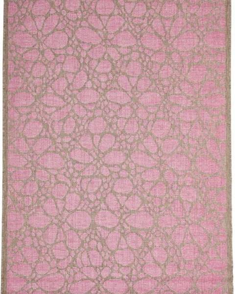 Floorita Růžový venkovní koberec Floorita Fiore, 160 x 230 cm